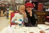 中国文化义工北京爱心妈妈紫秋出差前跟韩嘉琪就餐道别