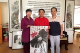 紫秋随程效斋主席拜访中国榜书家协会安徽分会顾问张少石