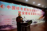 中国榜书家协会安徽省分会名誉主席卞国福欢迎大家到合肥